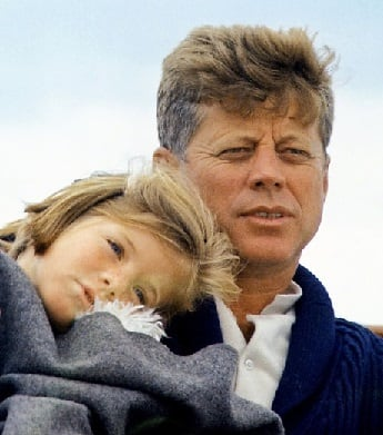 John Kennedy with daughter Caroline Kennedy