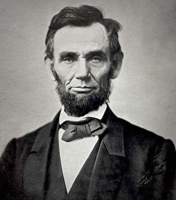 Photo of President Lincoln taken in 1863