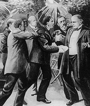 Drawing of William McKinley assassination